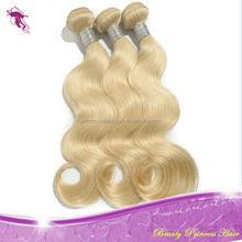 wholesale Supply virgin human blonde hair weaves,28 30 32 34 36 38 40 inches blonde human hair
