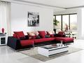 Mobilya tasarımcısı/modern renkli kanepe/yeni varış lüks karışık deri ve kumaş koltuk/zarif kırmızı ve siyah koltuk takımı 8116b