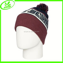 Jacquard knitting warm cheap beanie hats men