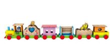 Children Building Block Train