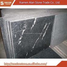 china snow black sonw grey granite with white veins