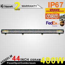 "Promotion price!!! high quality fish eye lens light, 44"" c, 480w 4D lens led lightbar for atv suv 4wd"