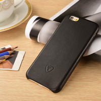 OEM Custom LOGO China Factory Black Leather Hard Case For iPhone 6 , For iPhone 6 Leather Back Cover Case,PU Smartphone Case