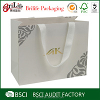 Custom Design Logo Printed Foldable Paper Gift Bag