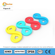 Fashion Jewelry 2015 Multi Colors Figure 8 Pendant Baby Silicone Teething Jewelry