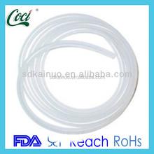 translucent customized diameter expandable silicone tube