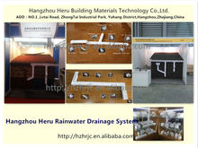 new innovation building material/pvc rainwater gutters