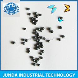 Cast steel shot /shot blasting action produces a polished surface