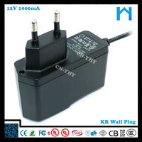 power adapter 12v for ps4 12w with ul cul kc fcc saa ce rohs