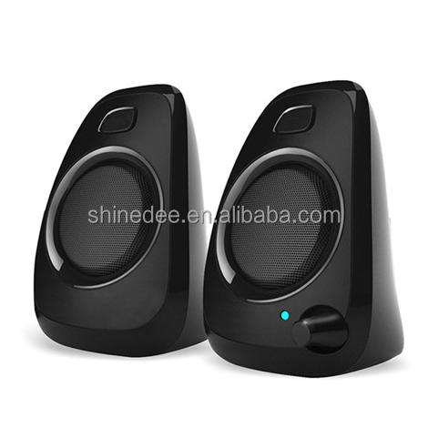 2016 Populaire 2.0 mini haut-parleur stéréo 3 w numérique jeu de haut-parleurs pour USB