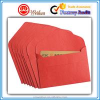 Customized Elegant Matte Red high rank decorative Pearl paper card envelopes