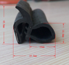 Customized auto co-extruded rubber edge door trim seal