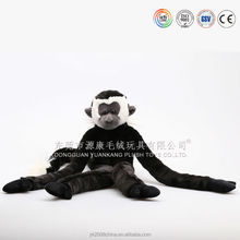 Long arms and legs plush monkey toys with velcro