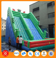Kids and adults funny sport games inflatable floating water slide