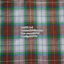 new stype hot sale 100% cotton long stapled blue check fabric