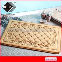 Anti-Slip Feature and microfiber memory foam door mats