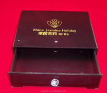 Cheap luxury acrylic box container with drawer