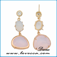 china factory price druzy stone stud agate dangle earrings