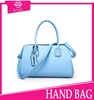 trendy beach bags 2015 light blue unique brand name bag high quality pu leather tote bag women fashion handbags from CHINA