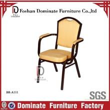 Arm chair aluminium tubular with arm pad