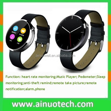 S360 DM360 D360 IPS round screen bluetooth watch with heart rate monitor smart wristwatch