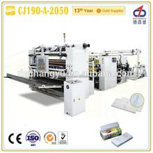 CJ190-A-2050 v fold kitchen towel paper machine/hand towel machine