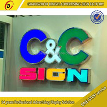 brushed stainless steel letter signs acrylic alphabet for shopfront