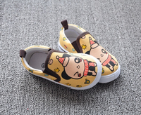S10613A 2015 new style kids shoes bear pattern kids canvas shoes