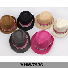 Fashion Lady colorful summer paper straw hats fedora hats