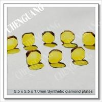 Irregular hexagon shape diamond plate, bright yellow color diamond plates, mano crystal diamond plate