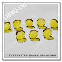 Irregular hexagon shape diamond plate, bright yellow color diamond plates, mano crystal diamond plate
