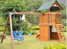 Children garden outdoor woden kids payground playhouse for promotion