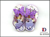 2015 beautiful baby girls purple butterfly slipper shoes