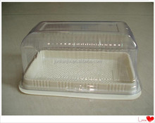 Disposable plastic cake packaging cake box for pastry shop