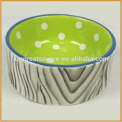Hot sale beautiful dyeing health ceramic soup bowl