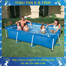 Large inflatable adult swimming pool with metal frame