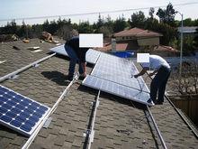 Ashphalt shingle roof flashing plate pv panel support