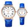 Western Hot Selling Quartz Watch Roman Numbers Couple Lover's Wristwatch