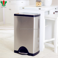 Stainless steel eco-friendly soft closing trash bin/waste bin/trash can