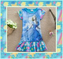 top nueva cenicienta vestidos para niñas venta caliente traje de cenicienta
