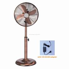 12 V DC eléctrico antigüedades de Metal 12 pulgadas Foshan soporte del ventilador de Pedestal ventas al por mayor