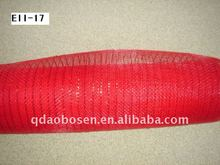 Floral plastic wrapping mesh