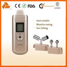 mini facial galvanic beauty machine with 3 optional heads for facial care