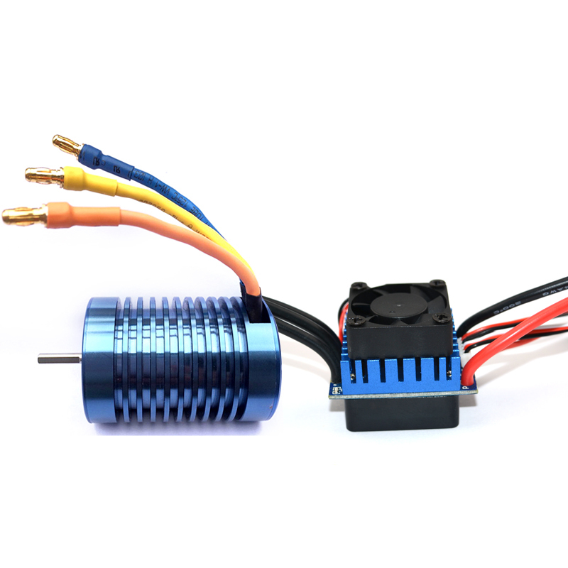 Heatsink 3650 inrunner motor Resistance 0.0192 motor dc motor & 60A ESC speed controller combo for rc toys