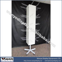 Movable Rotating Pegboard Spinner Display Stand