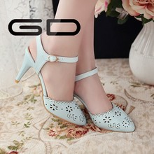 2015 latest design china high heels sweet lady sandals for girls