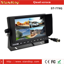 7 inch car quad monitor stand with 4 video input