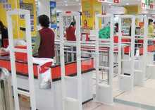 supermarket EAS RF system/ Several EAS RF antennas in line