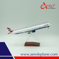 Boeing 777-300ER BA ABS plane model scale 1/200