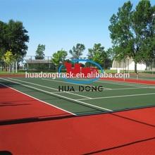Respetuoso del medio ambiente pista de tenis equipo alfombrilla de goma